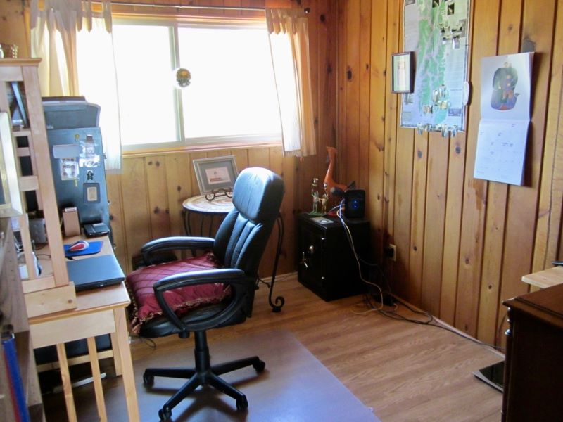 Bedroom #3, currently being used as an office.